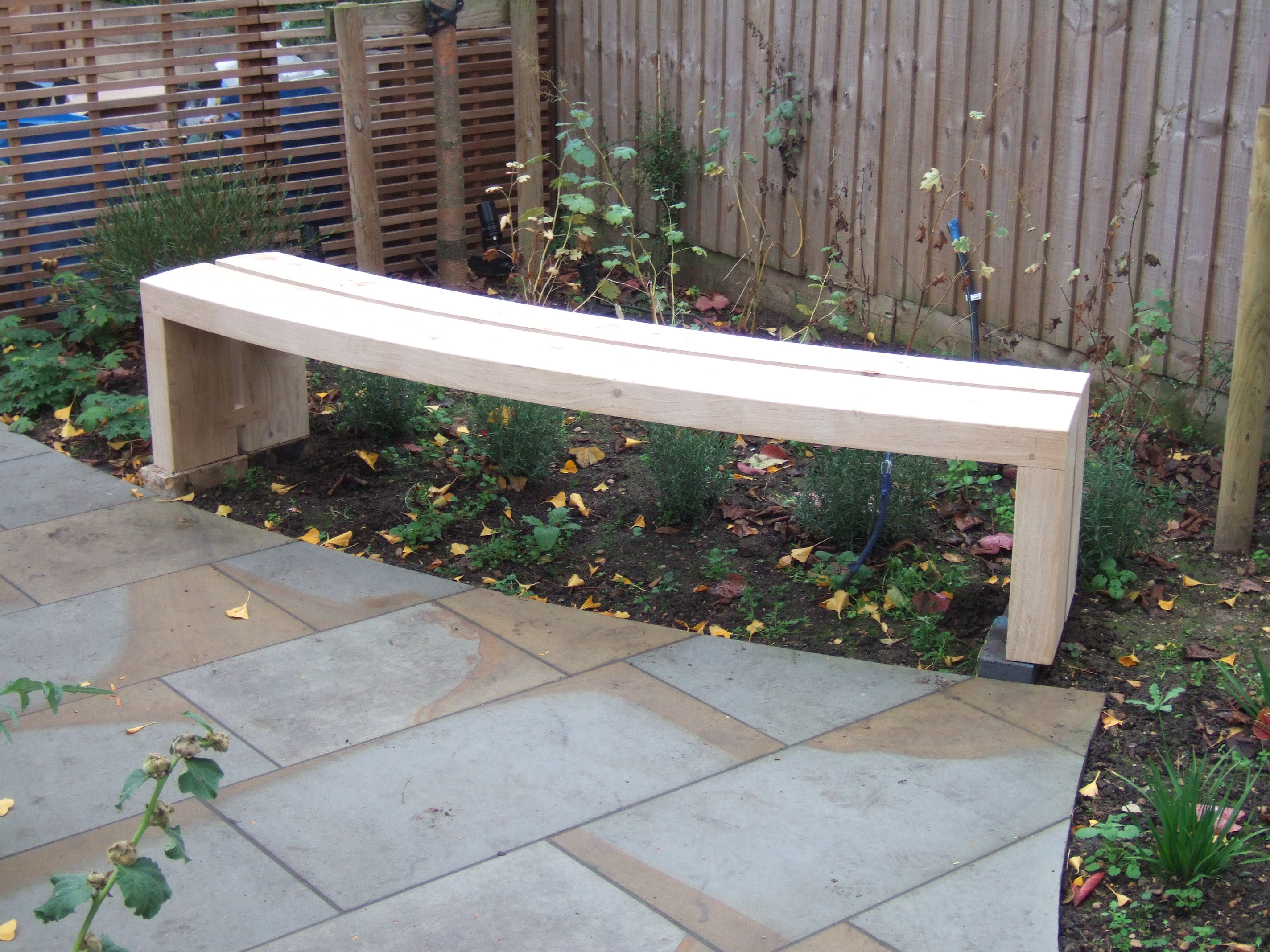 Curved Garden Bench Plans